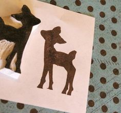 Hand made carved stamps