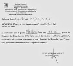 I Pendolari e le Infrastrutture in Sicilia: La Regione Siciliana convoca i Comitati Pendolari ...
