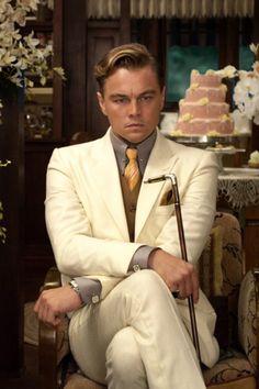 Gatsby : magnifique ou épuisant ? Leonardo DiCaprio Tie, pocket square, cufflinks... Oh my!