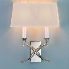 Transitional 'X' Wall Sconce with Shade - 2 Light