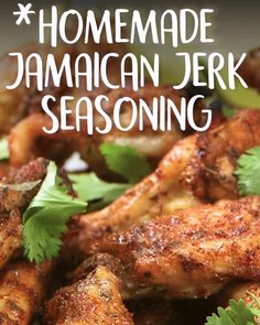 No time but wanting to kick your or up a notch? All you'll need is 5 minutes and this recipe. recipe, blend Homemade Jamaican Jerk Seasoning Blend From merely hot to incendiary, this Caribbean jerk seasoning gets its kick from a blend of ingredients… Jamaican Dishes, Jamaican Recipes, Jamaican Appetizers, Oxtail Recipes, Jamaican Cuisine, Carribean Food, Caribbean Recipes, Carribean Jerk Chicken, Jamaican Jerk Seasoning