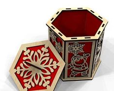 Flexible Plywood, Wood Laser Ideas, Laser Cutter Projects, Scroll Saw, Handmade Items, Handmade Gifts, Diy And Crafts, Cool Designs, Decorative Boxes