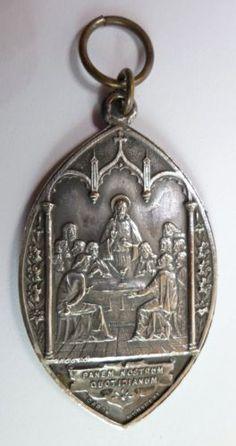 Antique-1910-CATHOLIC-MEDAL-21st-XXIUS-EUCHARISTIC-CONGRESS-in-MONTREAL-CANADA