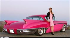 Hot Rods and Pin Ups. A huge collection of thousands of images of hotrods, hot rodding, drags, gassers, etc. From the most important early days to modern kustoms and street rods. Rosa Cadillac, Pink Cadillac, 1959 Cadillac, Cadillac Ct6, Porsche 914, Hot Rods, Ford Gt, Audi Tt, Muscle Cars