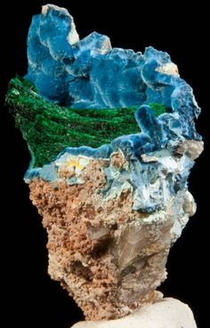 Shattuckite and Malachite