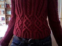 25 Cable Sweater; pattern by Rebecca Design Team; Ravelry