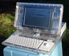 Apple Macintosh Portable clear case prototype (non-backlit version).