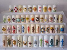 Cross Crafts, Candle Making, Easter Crafts, Pin Collection, Pillar Candles, Design Candles, Inspiration, Carved Candles, Mexican Crafts
