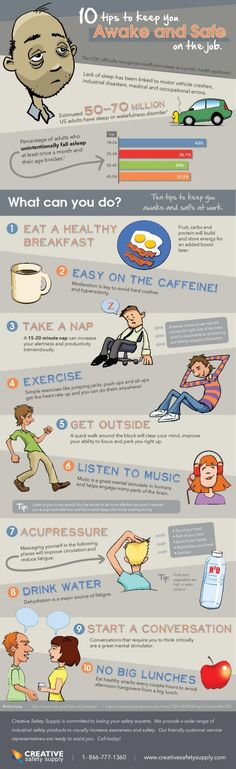Health & Safety http://creativesafetypublishing.com/infographics/stay-awake-and-safe-at-work/