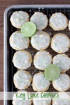Key Lime Cookies   DessertNowDinnerLater.com #cookies #keylime #whitechocolatechip