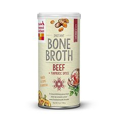 The Honest Kitchen Beef Bone Broth - Natural Human Grade Functional Liquid Treat with Turmeric Spice for Dogs & Cats, 5 oz - ABOUT BEEF BONE BROTH: Our tasty instant Bone Broth can be mixed with warm water to make a nourishing, and irresistibly mouthwater Beef Bone Broth, Dog Coughing, Turmeric Spice, Homemade Bone Broth, Spiced Beef, Home Remedy For Cough, Beef Bones, Best Dog Food, Fruit
