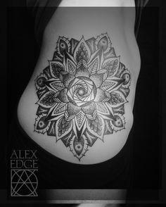 Mandalas tattoos and sacred geometry on pinterest for Mandala hip tattoo