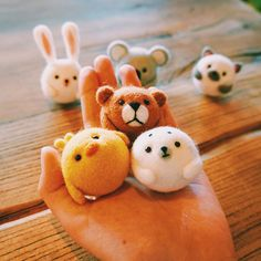 Handmade Needle felted felting kit project Woodland Animals cute for b | Feltify