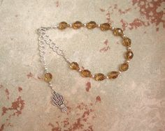 Demeter Prayer Bead Bracelet (Adjustable): Greek Goddess of Grain, the Harvest…