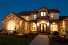 Rustic Tuscan Style House -- Plan 472-4 ... Front Exterior 2