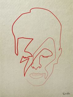 One-line David Bowie by Christophe Louis, a.k.a. Quibe
