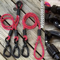 Double Dog Coupler Pro paired with an Ultimate Dog Leash. Built with CE rated compact locking carabiners nanoSwivel and 9.5mm wild orchid climbing rope. Built for walking two BIG dogs. https://MyDogsCool.com #ropeleash #dogleash #madeinusa by mydogscool
