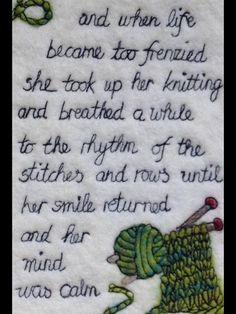 Knitting wisdom