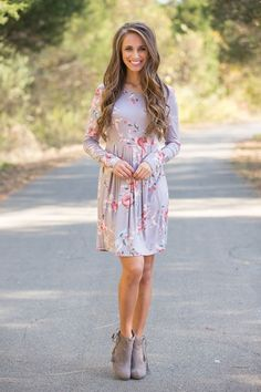 All Of Our Days Floral Dress - The Pink Lily