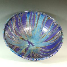 Purple Rain Glaze / Extra Large Bowl / Art Vessel / Serving / Wheel Thrown Pottery