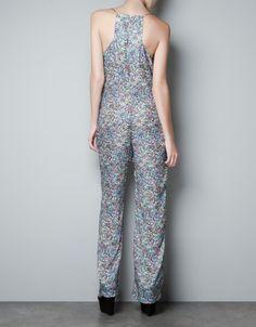 FLORAL PRINT JUMPSUIT - Dresses - Woman - ZARA United Kingdom
