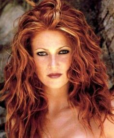 Red Hair Debra Meshair highlights   Red Hair with Blonde Highlights ...
