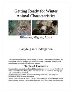 The Science Unit is aligned with the Common Core Standards for Kindergarten and First Grade. The Hibernation, Migration and Adaptation unit contain...