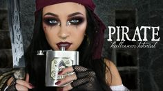 PIRATE HALLOWEEN MAKEUP TUTORIAL / GLAM PIRATE MAKEUP | Stephanie Ledda