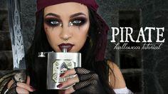 PIRATE HALLOWEEN MAKEUP TUTORIAL / GLAM PIRATE MAKEUP | Stephanie Ledda