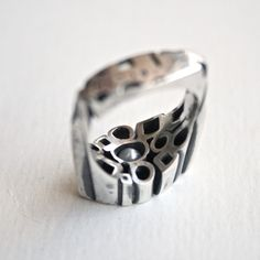 silver and pearl ring by Scott Symington Pearl Ring, Rings For Men, Pearls, Silver, Jewelry, Design, Men Rings, Jewlery, Money