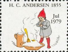 """H.C. Andersen Nisser 1979 fra Vilhelm Pedersens Studieblad 1855 til """"Nissen og Spækhøkeren"""" m.m."""