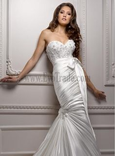 Inexpensive Mermaid Dresses Wedding Garden Or Outdoor Hall Beading Sashes Or Ribbons Chapel Train Chic And Modern Online Wedding Dresses