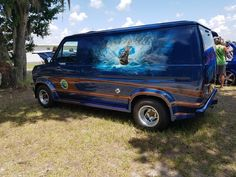 Customized 70's Ford Van