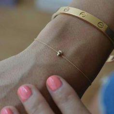 Itsy bitsy skull bracelet