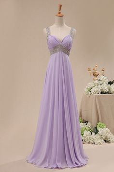 long chiffon bridesmaid dress prom gown wedding by worlddress8, $129.00 -- Too blingy?