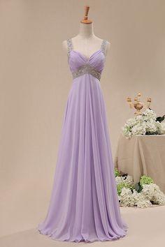 long chiffon bridesmaid dress prom gown wedding by worlddress8, $129.00 -- Too blingy?