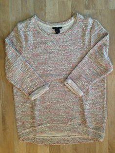 Sweater gris tejido con lana de colores #H&M. Compra esta prenda online! www.saveweb.com.ar