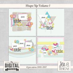 Shape Up Volume 1 | Template Set by Jen C Designs