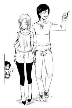 Attack On Titan Comic, Attack On Titan Ships, Attack On Titan Fanart, Best Anime Drawings, Manga Drawing, Eren And Annie, Danmachi Anime, Eren X Mikasa, Bleach Anime