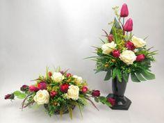 Ikebana, Red And White, Floral Wreath, Wreaths, Birthday, Flowers, Decor, Diy, Flower Arrangements