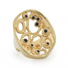 Amy Magic Ring Gold / Black