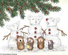 """Monica, Mudpie, Maxwell, Muzzy and Amanda from House-Mouse Designs® featured on the The Daily Squeek® for June 23rd, 2013. Click on the image to see it on a bunch of really """"Mice"""" products."""