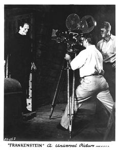 Frankenstein (1931) - behind-the-scenes, director James Whale