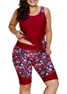 Plus Size Tankini, Plus Size Swimsuits, Women Swimsuits, Curvy Fashion, Plus Size Fashion, Fashion Women, Top Red Wines, Plus Size Clothing Stores, Floral Tankini