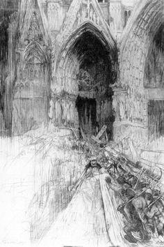 Jules De Bruycker - Tekeningen - potlood, inkt, ingekleurde, krijt - Dessins - Drawings/A0066 REIMS