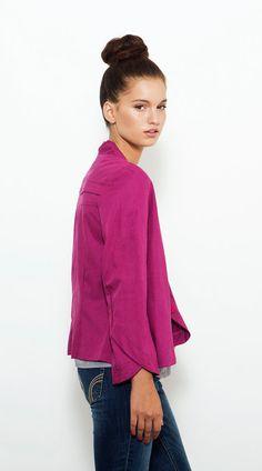 Spring Jacket Magenta Jacket Women Jacket by PigPigCowDesigns,