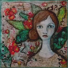 Mixed Media - Art Journal 1: Frau - v. skonea 2016