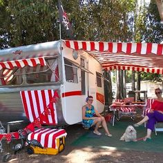 http://www.replacementtrailerparts.com/trailerawnings.php has some useful info on the different types of awnings available for the various types of trailers.