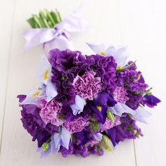 Pretty purple bridal bouquet