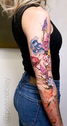 Pete Zebley • Central Tattoo Studio Mommy Tattoos, Body Art Tattoos, Tatoos, Floral Tattoo Design, Tattoo Designs, Floral Tattoos, Tattoo Ideas, Pretty Tattoos, Beautiful Tattoos